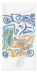 Abstract Digital Bath Towel