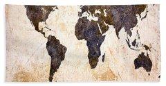 Abstract Earth Map Bath Towel