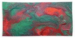 Abstract Evergreen Bath Towel