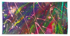 Abstract Fairy Night Lights Bath Towel