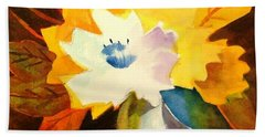 Abstract Flowers 2 Hand Towel by Marilyn Jacobson
