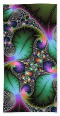 Abstract Fractal Art With Jewel Colors Hand Towel