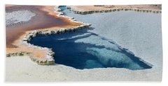 Abstract From The Land Of Geysers. Yellowstone Bath Towel