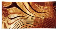 Abstract Gold 2 Hand Towel