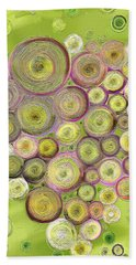 Abstract Grapes Bath Towel