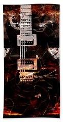 Abstract Guitar Into Metal Hand Towel
