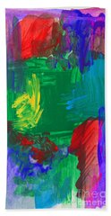 Abstract High Five Bath Towel