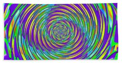 Abstract Hypnotic Bath Towel by Kenny Francis