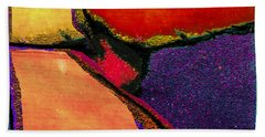 Abstract In Reds Bath Towel