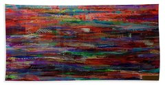 Abstract In Reflection Bath Towel
