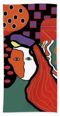 Abstract Lady Hand Towel