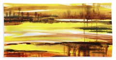 Abstract Landscape Reflections I Hand Towel