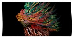 Abstract Lion's Head Bath Towel by Klara Acel
