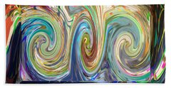 Abstract Marble Stone Shows Beautiful Wave Torndo Pattern Dipcting Colors Go  Deep Insite The Dept   Bath Towel