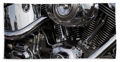 Abstract Motorcycle Engine Bath Towel