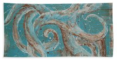 Hand Towel featuring the painting Abstract Octopus by Tamyra Crossley