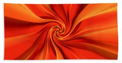 Abstract Orange Bath Towel by Jennifer Muller