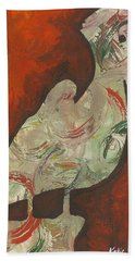 Abstract Pelican Hand Towel