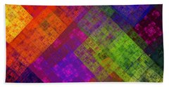 Bath Towel featuring the digital art Abstract - Rainbow Infusion - Square by Andee Design