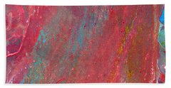 Abstract Red Rain Bath Towel