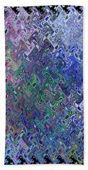 Abstract Reflections Hand Towel by Robyn King