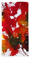 Abstract - Riot Of Fall Color II - Autumn Bath Towel by Ellen Levinson