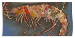 Abstract Shrimp Hand Towel