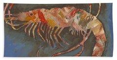 Abstract Shrimp Bath Towel