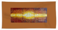 Abstract Sunset Bath Towel