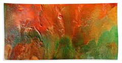 Abstract Vintage Landscape  Bath Towel