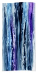Abstract Waterfall Purple Flow Hand Towel