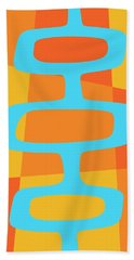 Abstract With Turquoise Pods 3 Hand Towel