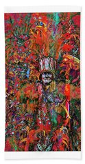 Abstracted Mummer Hand Towel