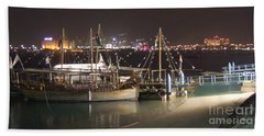 Bath Towel featuring the photograph Abu Dhabi At Night by Andrea Anderegg