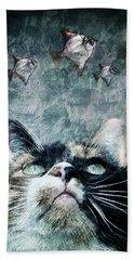 Abyss Cat Nr 2 Hand Towel