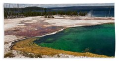 Hand Towel featuring the photograph Abyss Pool And Yellowstone Lake by Sue Smith