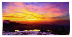 Acadia National Park Cadillac Mountain Sunrise Forsale Hand Towel by Bob and Nadine Johnston