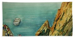 Acapulco Cliff Diver Hand Towel