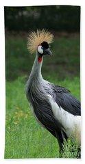 African Crowned Crane #3 Hand Towel