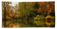 Across The Lake Hand Towel by Lyle Hatch