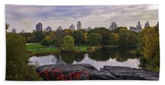 Across The Pond 2 - Central Park - Nyc Hand Towel by Madeline Ellis