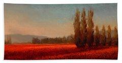 Across The Tulip Field - Horizontal Landscape Bath Towel