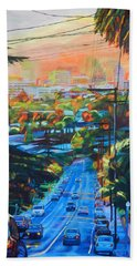 Towards The Light Hand Towel by Bonnie Lambert