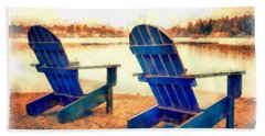 Adirondack Chairs By The Lake Bath Towel