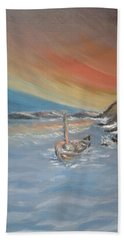 Bath Towel featuring the painting Adrift by Teresa White