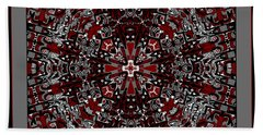 Bath Towel featuring the digital art Aerial Kaleidoscope No 2 by Joy McKenzie