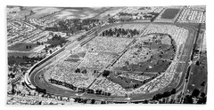 Aerial Of Indy 500 Hand Towel