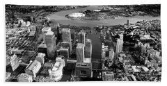 Aerial View Of London 5 Hand Towel by Mark Rogan