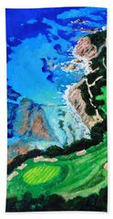Aerial View Of Pebble Beach Hand Towel