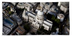 Aerial View Of St Pauls Cathedral Hand Towel by Mark Rogan